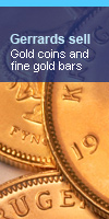 Gerrards sell fine gold bars and coins